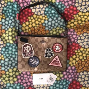 NWT COACH x STAR WARS Wristlet in signature canvas